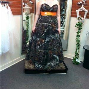 Camouflage prom dress